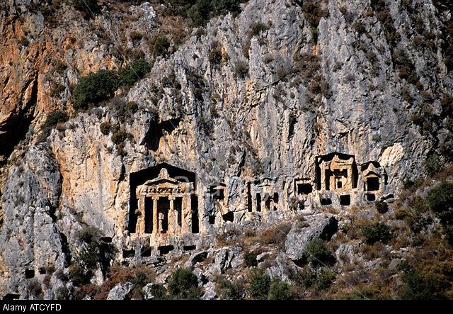Demre (Kale) lycian tombs